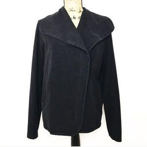 Standard James Perse Black Asymmetric Jacket
